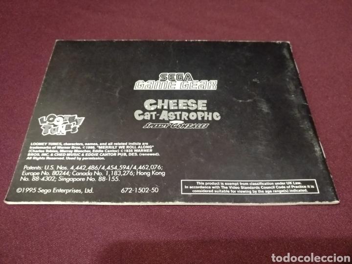 Videojuegos y Consolas: Manual Cheese cat-astrophe, Game gear - Foto 2 - 198690310