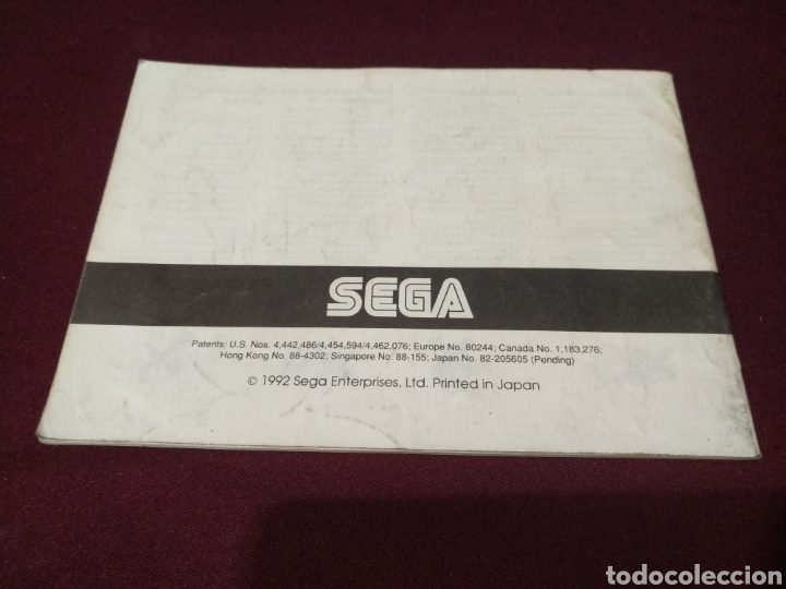 Videojuegos y Consolas: Manual Soni hedgehog, Game gear - Foto 2 - 198791880