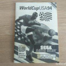 Videojuegos y Consolas: SEGA GAMEGEAR INSTRUCCIONES DE WORLDCUP USA 94. Lote 201807821