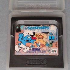 Videojuegos y Consolas: SEGA GAME GEAR LOS PITUFOS LES SCHTROUMPFS CARTUCHO + FUNDA ORIGINAL PAL RARO!! R11027. Lote 205793930