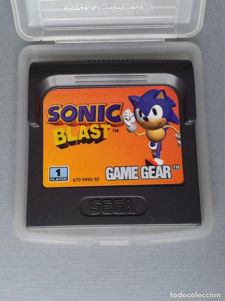 SEGA GAME GEAR SONIC BLAST CARTUCHO+FUNDA ORIGINAL PAL RARISIMO!! R11030 (Juguetes - Videojuegos y Consolas - Sega - GameGear)