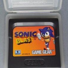 Videojuegos y Consolas: SEGA GAME GEAR SONIC BLAST CARTUCHO+FUNDA ORIGINAL PAL RARISIMO!! R11030. Lote 205794520