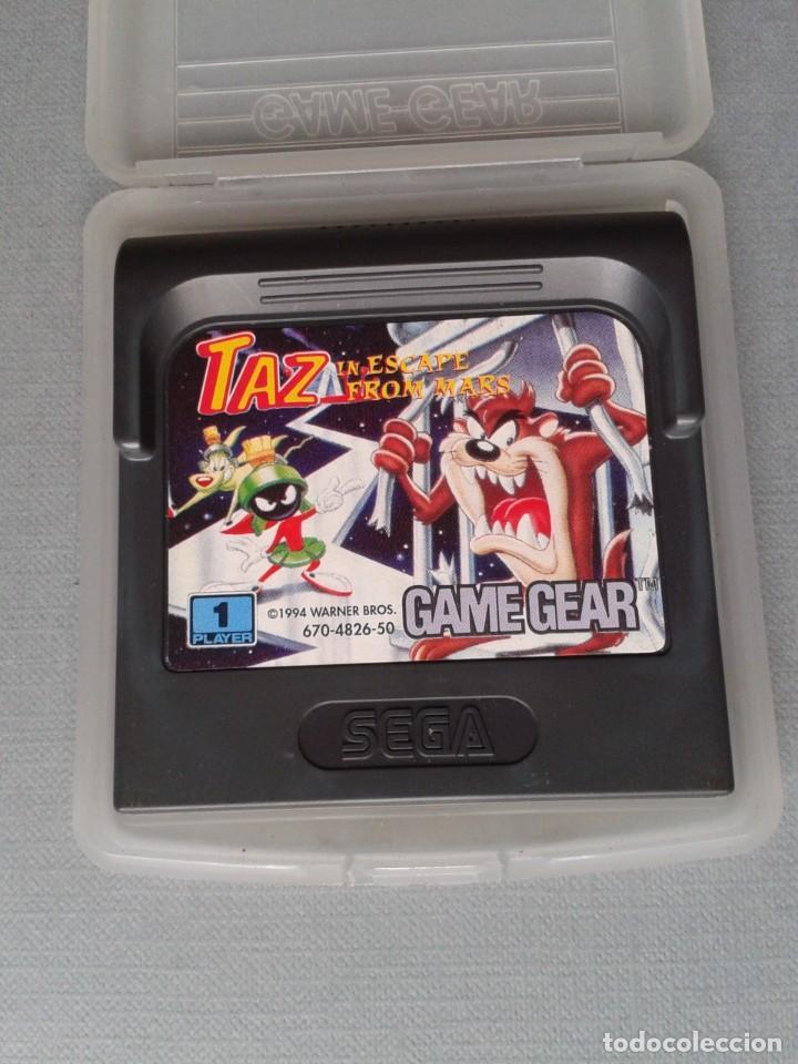 SEGA GAME GEAR TAZ IN SCAPE FROM MARS CARTUCHO+FUNDA ORIGINAL PAL R11033 (Juguetes - Videojuegos y Consolas - Sega - GameGear)