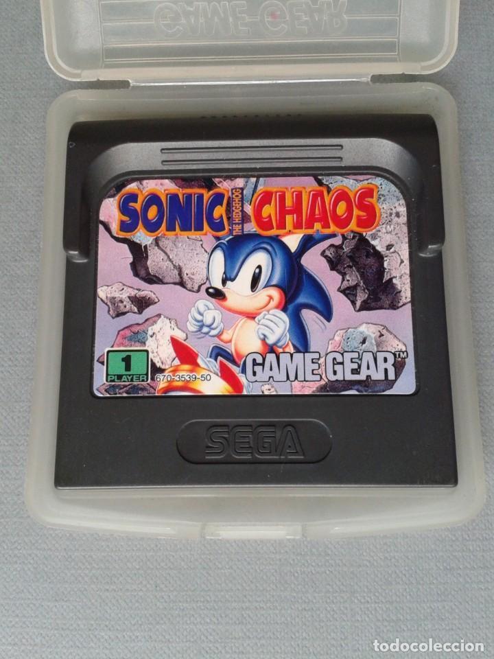 SEGA GAME GEAR SONIC HEDGEHOG CHAOS CARTUCHO+FUNDA ORIGINAL PAL R11034 (Juguetes - Videojuegos y Consolas - Sega - GameGear)