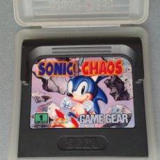 Videojuegos y Consolas: SEGA GAME GEAR SONIC HEDGEHOG CHAOS CARTUCHO+FUNDA ORIGINAL PAL R11034. Lote 205794725