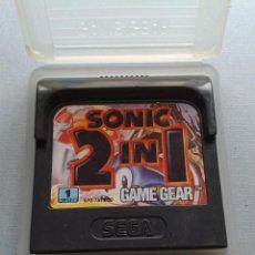 Videojuegos y Consolas: SEGA GAME GEAR SONIC 2 IN 1 INCLUYE SPINBALL CARTUCHO+FUNDA ORIGINAL PAL RARO!! R11037. Lote 205794903
