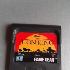 Videojuegos y Consolas: SEGA GAME GEAR DISNEY THE LION KING SOLO CARTUCHO ORIGINAL PAL R11038. Lote 205794953