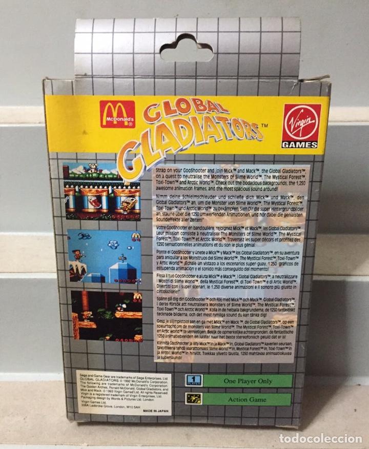Videojuegos y Consolas: GLOBAL GLADIATOR SEGA GAME GEAR COMPLETO PAL ESPAÑA - Foto 8 - 206872783