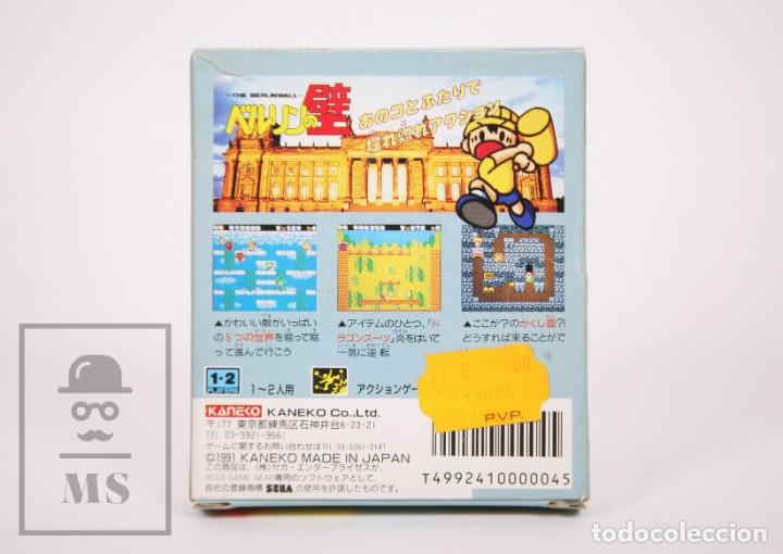Videojuegos y Consolas: Videojuego / Juego Videoconsola Sega Game Gear - The Berlinwall / El Muro de Berlín - Kaneko, 1991 - Foto 5 - 206889476