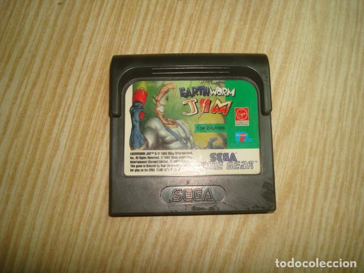 SEGA GAMEGEAR EARTH WORM JIM DIFICIL (Juguetes - Videojuegos y Consolas - Sega - GameGear)
