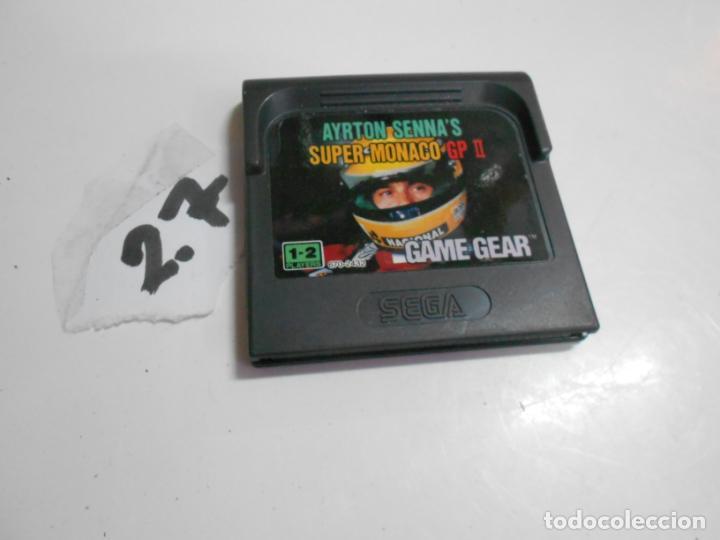 ANTIGUO JUEGO GAMEGEAR AYRTON SENNA MONACO (Juguetes - Videojuegos y Consolas - Sega - GameGear)