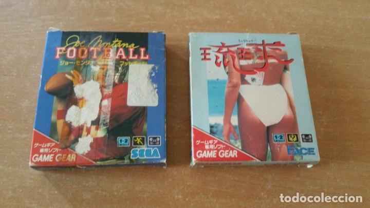 FOOTBALL MONTANA Y PÓKER SEGA GAME GEAR JAPONESES COMPLETOS (Juguetes - Videojuegos y Consolas - Sega - GameGear)