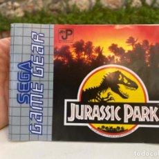 Videojuegos y Consolas: LIBRO INSTRUCCIONES SEGA GAME GEAR JUEGO CONSOLA JURASSIC PARK 1992. Lote 216604387