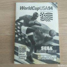 Videojuegos y Consolas: SEGA GAMEGEAR INSTRUCCIONES DE WORLDCUP USA 94. Lote 218244311