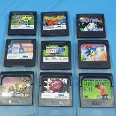Videojuegos y Consolas: LOTE DE 9 JUEGOS PARA - GAME GEAR DE SEGA. Lote 221087146