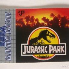 Videojuegos y Consolas: MANUAL DE INSTRUCCIONES - JURASSIC PARK ,PARA SEGA GAME GEAR. Lote 221338361