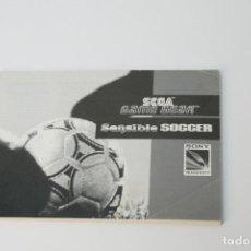 Videojuegos y Consolas: INSTRUCCIONES JUEGO SENSIBLE SOCCER. GAME GEAR. 1992.. Lote 229824010