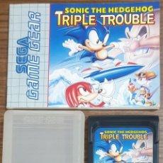 Videojuegos y Consolas: JUEGO SEGA GAME GEAR SONIC THE HEDGEHOG TRIPLE TROUBLE. Lote 231545370