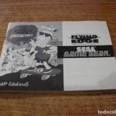 Videojuegos y Consolas: INSTRUCCIONES DE SEGA GAME GEAR THE SIMPSONS SPACE MUTANTS. Lote 240596710