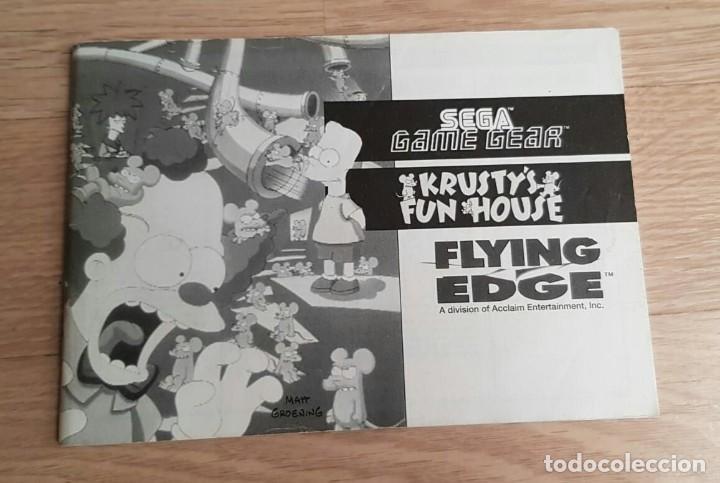 SEGA GAME GEAR INSTRUCCIONES DE KRUSTY'S FUN HOUSE (Juguetes - Videojuegos y Consolas - Sega - GameGear)