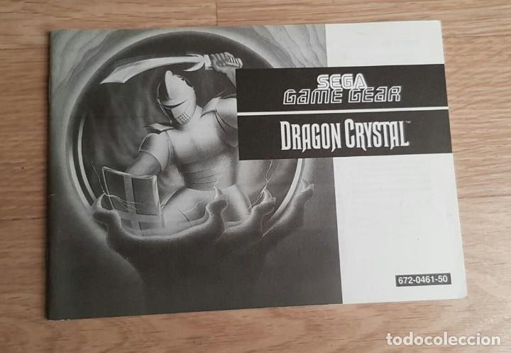SEGA GAME GEAR INSTRUCCIONES DE CRYSTAL WARRIORS (Juguetes - Videojuegos y Consolas - Sega - GameGear)