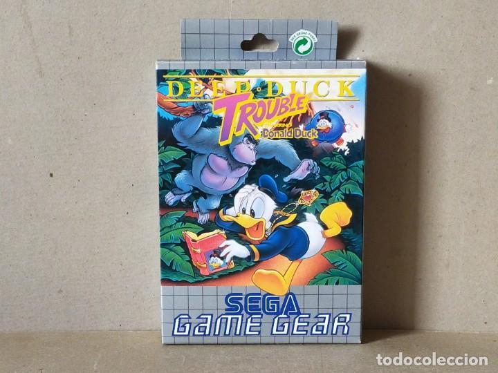 JUEGO SEGA GAME GEAR: DEEP DUCK TROUBLE. DONALD DUCK --- COMPLETO.---- GAMEGEAR (Juguetes - Videojuegos y Consolas - Sega - GameGear)