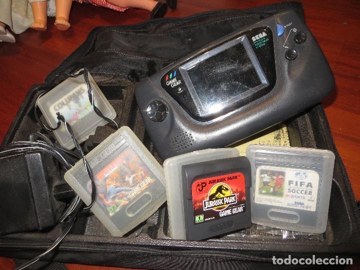 GAME GEAR LOTE CONSOLA Y JUEGOS(ENCIENDE PERO NO SE VEN LOS JUEGOS) (Juguetes - Videojuegos y Consolas - Sega - GameGear)