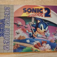 Videojuegos y Consolas: MANUAL DE INSTRUCCIONES SEGA GAME GEAR SONIC 2 THE HEDGEHOG GAMEGEAR. Lote 249572675