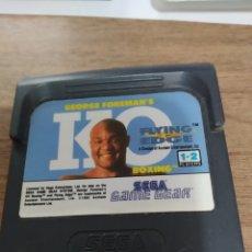 Videojuegos y Consolas: GAMEGEAR GEORGE FOREMAN'S KO / SEGA. Lote 253685225
