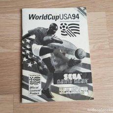 Videojuegos y Consolas: SEGA GAMEGEAR INSTRUCCIONES DE WORLDCUP USA 94. Lote 254274400