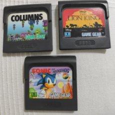 Videojuegos y Consolas: LOTE DE JUEGOS PARA LA GAME GEAR, SEGA.. Lote 254402850