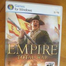 Videojuegos y Consolas: EMPIRE TOTAL WAR - GAMES FOR WINDOWS - DVD-PC 2 CDS.CONQUISTA EL MUNDO DEL SIGLO XVIII POR TIERRA Y. Lote 257614810