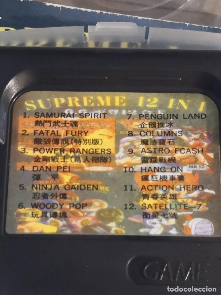 Videojuegos y Consolas: Cartucho juego 12 en 1 game gear.. Samurai, fatal Fury. Power rangers, ninja, woody, columns, etc - Foto 2 - 274565613