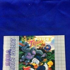 Videojuegos y Consolas: GAME GEAR TROUBLE DEED INSTRUCCIONES. Lote 276651208