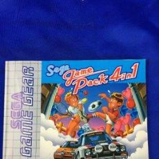 Videojuegos y Consolas: GAME GEAR GAME PACK 4 IN 1 INSTRUCCIONES. Lote 276651638