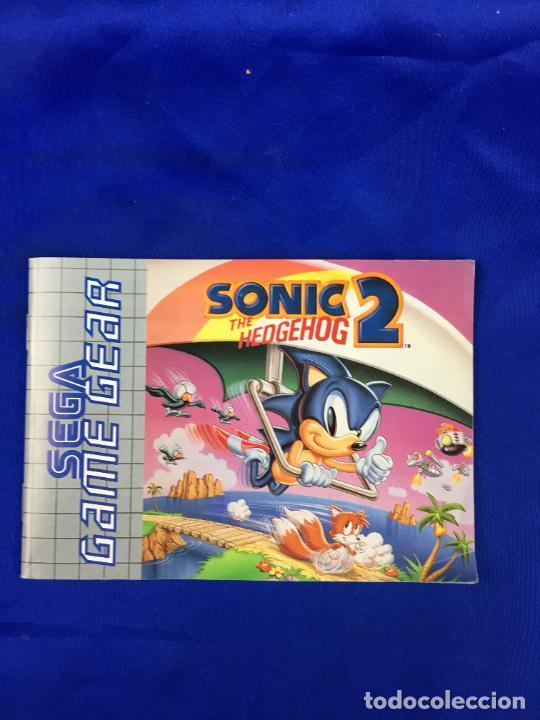 GAME GEAR SONIC 2 INSTRUCCIONES (Juguetes - Videojuegos y Consolas - Sega - GameGear)