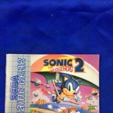 Videojuegos y Consolas: GAME GEAR SONIC 2 INSTRUCCIONES. Lote 276652428