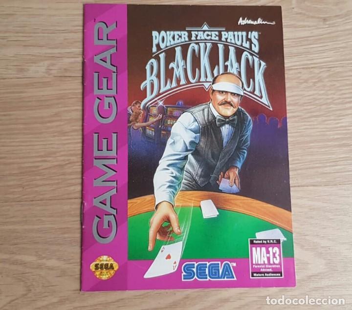 SEGA GAMEGEAR INSTRUCCIONES DE POKER FACE PAUL'S BLACK JACK (Juguetes - Videojuegos y Consolas - Sega - GameGear)