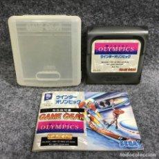 Videojuegos y Consolas: WINTER OLYMPICS JAP+MANUAL+ESTUCHE SEGA GAME GEAR. Lote 287805073