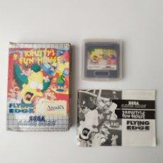 Videojuegos y Consolas: KRUSTY'S FUN HOUSE GAME GEAR. Lote 291320718