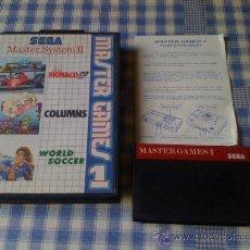 Videojuegos y Consolas: MASTER GAMES 1 PARA LA SEGA MASTER SYSTEM SMS PAL CON CAJA COMPLETO. Lote 27701714