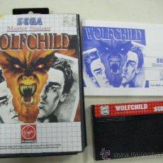 Videojuegos y Consolas: ANTIGUO JUEGO SEGA MASTER SYSTEM WOLFCHILD. Lote 28852346