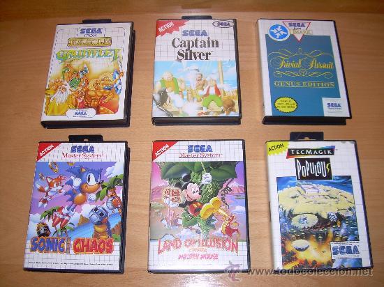 6x Juegos Sega Master System Sonic Chaos Land Comprar