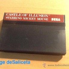 Videojuegos y Consolas: CASTLE OF ILLUSION STARRING MICKEY MOUSE DISNEY JUEGO PARA SEGA MASTER SYSTEM SMS PAL SÓLO CARTUCHO. Lote 69575685