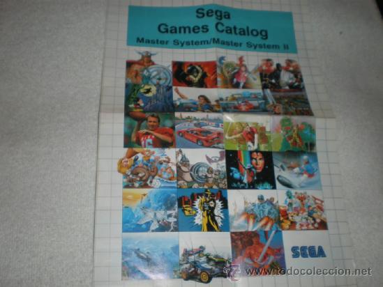 POSTER Y CATALOGO DE JUEGOS PARA SEGA MASTER SYSTEM (Juguetes - Videojuegos y Consolas - Sega - Master System)