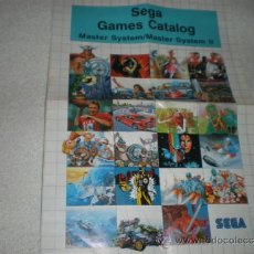 Videojuegos y Consolas: POSTER Y CATALOGO DE JUEGOS PARA SEGA MASTER SYSTEM. Lote 236260450