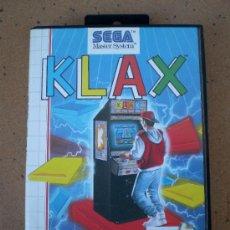Videojuegos y Consolas: JUEGO KLAX SEGA MASTER SYSTEM. Lote 38080771