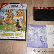 Videojuegos y Consolas: SEGA MASTER SYSTEM JUEGO THE LUCKY DIME CAPER STARRING DONALD DUCK. Lote 40348365