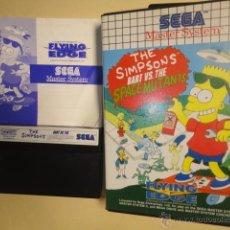Videojuegos y Consolas: JUEGO ORIGINAL SEGA MASTER SYSTEM THE SIMPSONS BART VERSUS SPACE MUTANTS 1992. Lote 152192244