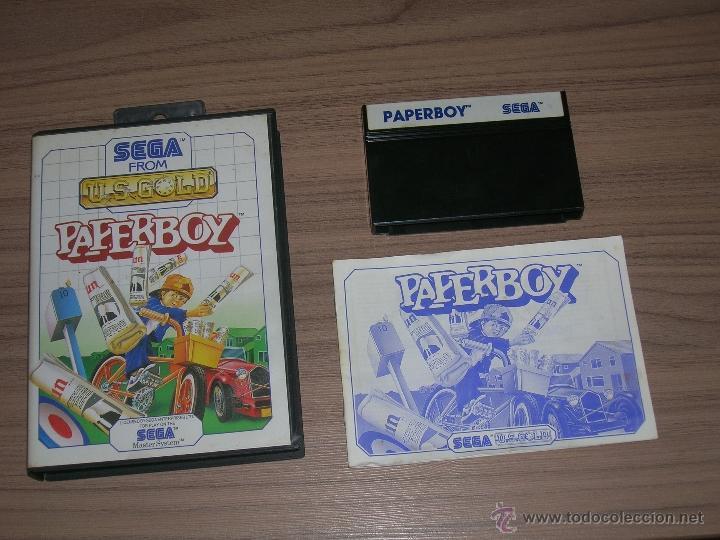 PAPERBOY COMPLETO SEGA MASTER SYSTEM PAL ESPAÑA (Juguetes - Videojuegos y Consolas - Sega - Master System)